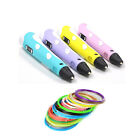 3D Printing Pen Stereoscopic Drawing Arts Crafts+10m ABS Filaments +3 Free uk