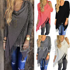 Women Long Sleeve Tassel Knitted Cardigan Loose Sweater Outwear Jacket Coat Hot