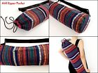 VERADA - Yoga Mat Bag - Tie Closure Pilates Mat Bag Woven Cotton Yoga Bag (WF64)