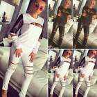 Sportsuit Zipper Sweatshirt Pants Ladies Synthetic Leather Sexy Women S0BZ