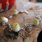 Fashion Women's lot Styles Alloy Beads Hole Cuff Pendant Bracelet Bangle Jewelry