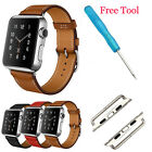 Genuine Leather Strap Single Tour Bracelet Watch Band For Apple Watch iWatch New