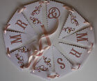 Handmade CHERRY BLOSSOM wedding : BUNTING ; 3 designs ;60 colours, personalised