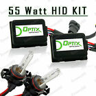 55W HID Fog Lights Xenon Light Slim Kit Plug N Play Bulb Size - 5202 2504