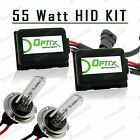 55W Slim HID Lights Xenon Head Light Kit Plug N Play Bulb Size - H7
