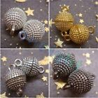 Hot!!! 10mm 12mm Gold Silver Black Magnetic Round Clasp Findings 10sets