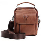 Men's Leather Messenger Shoulder Bag CrossBag Waist Fanny Pack Purse 087