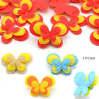 100 Pcs 3-Layer Padded Felt Butterfly Appliques Non-woven Patch For DIY Sew Bow
