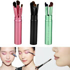 5PCS Brushes Mini Eyeshadow Eye Makeup Tool Set Kit with Round Tube