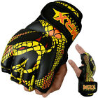 MMA Gloves UFC Cage Fight Kick Boxing Grappling Glove Snake Design Leather