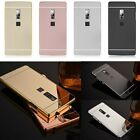 For Oneplus 2 Two Luxury Aluminum Metal Bumper + Mirror PC Back Skin Case Cover