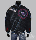 Tennessee Titans Jacket Cotton Twill Official NFL Black On Point $159
