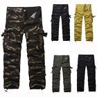 Fashion Mens Army Military Cargo Pants Combat Work Camouflage Camo Trousers pant