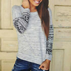 Women's Long Sleeve Shirt Casual Retro Blouse Loose Cotton Tops T Shirt Fashion