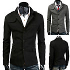 Men Designer BLACK/DARK GREY Herringbone Tweed Blazer Slim fit Coat Jacket S-2XL