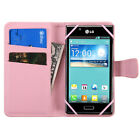"""Universal Smartphone Cover Folio Leather Flip Case Wallet Pouch Size 4.0""""- 4.5"""""""