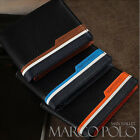 (MARCO POLO) Men's Trifold Premium Faux Leather Wallet #MP562 - Free Shipping