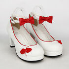 Sweet Lolita tea party badydoll Chinese Knots Bowknots Shoes Custom made 8522-72
