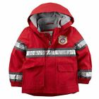 New Carter's Fire Fighter Red Hooded Raincoat size 2T 3T 4T 5 6 7 8 NWT