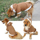 Reindeer Puppy Pet Dog Cat Costume Coat Hoodie Clothes Outfit for Xmas S M L XL