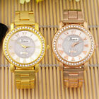 Women's Geneva Bling Stainless Steel Quartz Rhinestone Crystal Wrist Watch