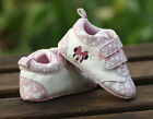 Baby Girl Minnie Mouse Mary Jane Pink Crib Shoes Age 0-6 6-12 12-18 Months