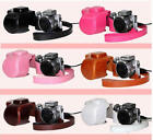 Color Leather Camera Case Bag Cover For Sony NEX-5R 5RL NEX-5T NEX-5TL 16-50MM