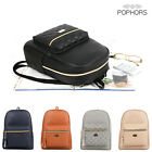 POPKORS CP43 Women Handbag Front Pocket Quilted Faux Leather Backpack Bookback