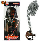 Classic Film Star Wars Silver Helmet Alloy Pendant Charm Jewelry Necklace Chain