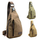 Mens Outdoor Canvas Chest Bag Hiking Sports Backpack Bags Crossbody Satchel Bag