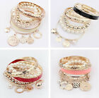 HOT Fashion Women Lots Style Bracelet Gold Rhinestone Bangle Charm Cuff Jewelry