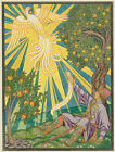 "IVAN BILIBIN ""Ivan Tsarevich and the Firebird"" apple tree mythical feather PRINT"