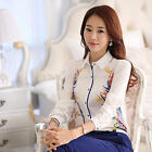 Fashion Women Long Sleeve Down Shirt Chiffon Office Lady Blouse Tops New