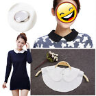 Women Peter Pan Faux Fake Lapel Half Shirt Collar Necklace Choker Detachable