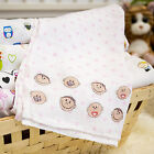 LARGE PRINTED MUSLIN BABY NAPPIES SQUARE 100% COTTON NAPPY BIBS REUSABLE 70 X 80
