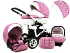 +++ SALE Baby Pram Stroller Buggy Pushchair White lux travel system 3in1 + BAG!