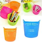 New Flexible Plastic Stationery Storage Basket Dorm Closet Organizer box 3 color