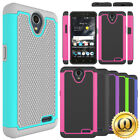 For ZTE AVID Plus Z828 Case Hybrid Dual Layer Shockproof Armor Protective Cover