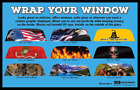 Rear Window Graphic-Decal-Wrap-Tint-Perf Print Sticker Truck SUV Car Perforated