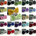 23 Colors Tuxedo Neck Bowtie Formal Wedding Solid Neckwear Adjustable Bow Tie