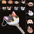 Внешний вид - Cute Puppy Pug Cat Rabbit Key Cover Cap Keychain Key Ring PVC Key Case Unisex