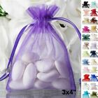 50 pcs 3x4 inch ORGANZA BAGS - Wedding FAVORS Drawstring Gift Pouch Packaging
