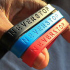 NEVER STOP Silicone Bracelet 100% Brand New! - The Motivation You Can Wear! image