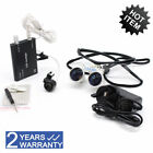3.5X420mm Dental Loupes Surgical Medical Binocular Loupes +LED HeadLight Lamp