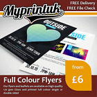 A6 Leaflets / Flyers Printed On 170gsm Gloss ~ FROM £11 ~ A4 / A5 / A6 / DL