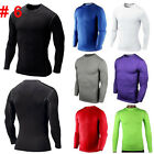 Mens Athletic Apparel Compression Under Base Layer Tops Tight Skin Workout Shirt