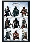 Assassins Creed Black Wooden Framed Characters Maxi Poster 61x91.5cm