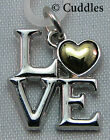 I Love You Heart Letters Charm Dangle Necklace Bracelet Silver/Gold Look Metal N