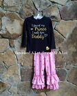 "Smocked A Lot Pants ""I found my Prince, I call him Daddy"" Gold Polka Dot Dress"