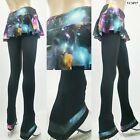 Ice Figure Skating Dress Practice Pants Trousers VCSP27 Skirtpants Galaxy XS XL